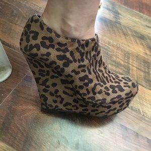Cheetah bootie heels